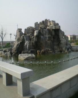 天津公園假山